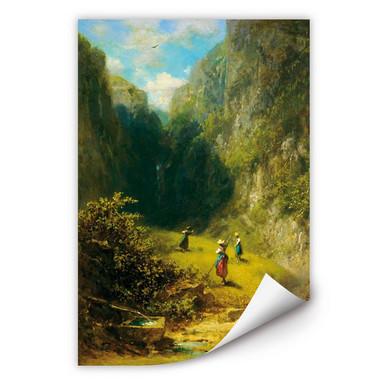 Wallprint Spitzweg - Heuernte im Hochgebirge