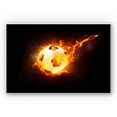 Wandbild Fussball in Flammen