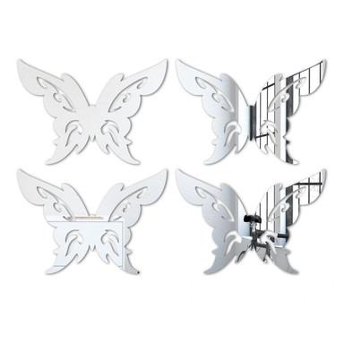 Wandspiegel Schmetterling-Tribal-Set (4-teilig)