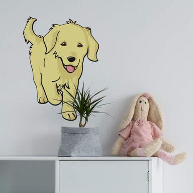 Wandsticker Hund Golden Retriever