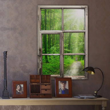 3D Wandtattoo Fenster Shabby - Sunny Forest
