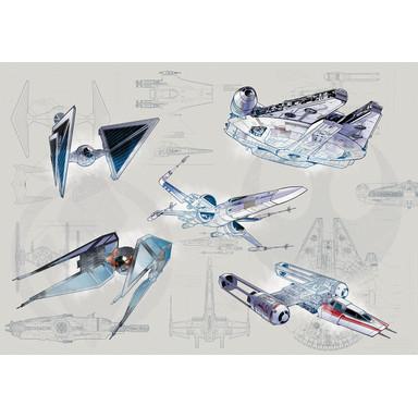 Fototapete Star Wars Blueprint Light