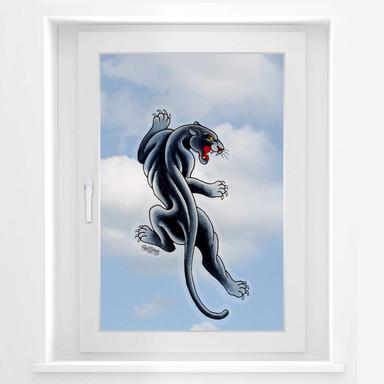 Fensterbild Miami Ink Black Panther