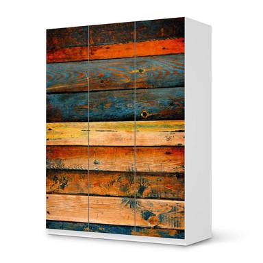 Folie IKEA Pax Schrank 201cm Höhe - 3 Türen - Wooden