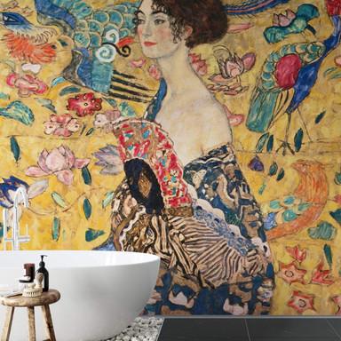 Fototapete Klimt - Dame mit Fächer - 288x260cm - Bild 1