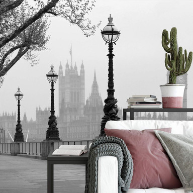 Fototapete Papiertapete London Fog - 366x254cm - Bild 1