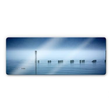 Glasbild Nebelbank Panorama