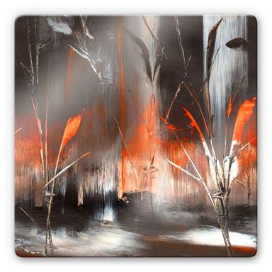 Glasbild Niksic - Feuer und Asche