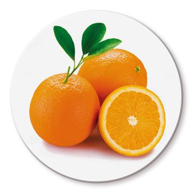 Glasbild Orange - rund