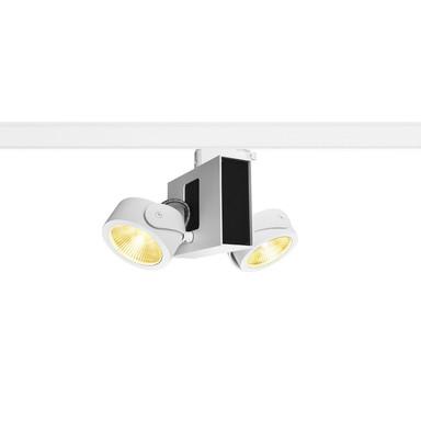 LED 3-Phasenschienen Spot Tec Kalu Double 60° in Weiss und Schwarz 2x15.5W 1900lm