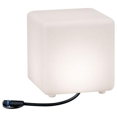 LED Plug & Shine Lichtwürfel in weiss IP67 warmweiss 24V 200x200mm