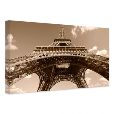 Leinwandbild Eiffelturm Perspektive