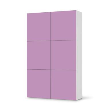 Möbel Klebefolie IKEA Besta Schrank 6 Türen (hoch) - Flieder Light