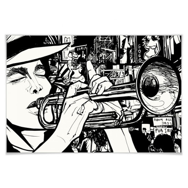 Poster Sound of a Street Musician