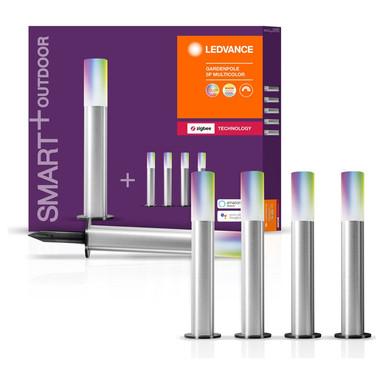 SMART& Zigbee LED Erdspiessleuchten in Silber und Weiss 5x 1.7W 420lm IP65 RGBW