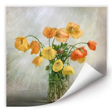 Wallprint Disher - Mohnblumen im Glas