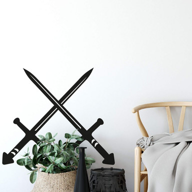 Wandtattoo Schwerter
