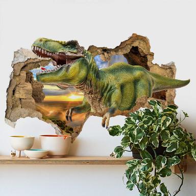 3D Wandtattoo T-Rex im Sonnenuntergang
