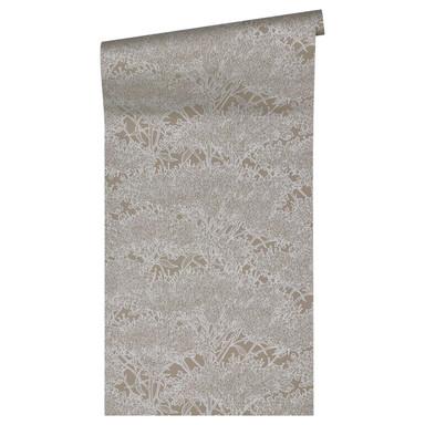 Architects Paper Vliestapete Absolutely Chic Tapete mit Blumen floral metallic, grau