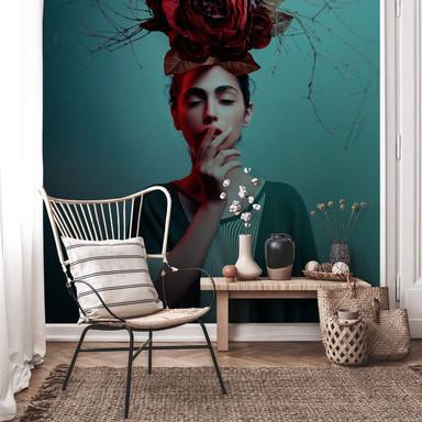 Fototapete Amin - Blumen im Haar