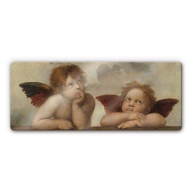 Glasbild Raffael - Zwei Engel - Bild 1