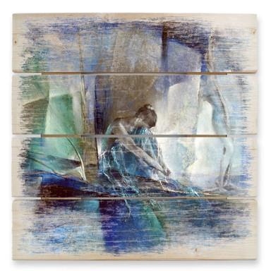 Holzbild Schmucker - Im blauen Raum
