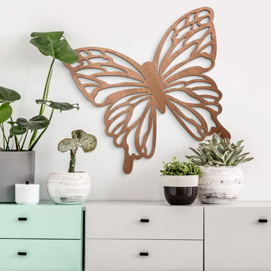 Holzdeko Mahagoni - Schmetterling Isabella
