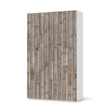 Klebefolie IKEA Besta Schrank 2 Türen (hoch) - Dark washed