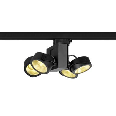 LED 3-Phasenschienen Spot Tec Kalu Quad 24° in Schwarz 4x15W 3800lm