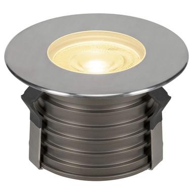 LED Bodeneinbauleuchte Dasar Premium, rund, 177 mm, IP67. Edelstahl 316. Aluminium, 24°