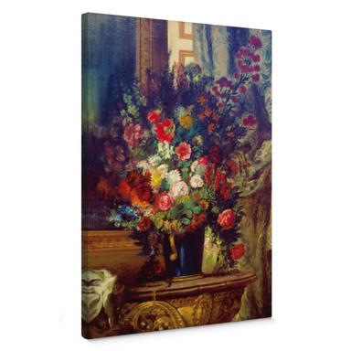 Leinwandbild Delacroix - Vase mit Blumen auf einer Konsole