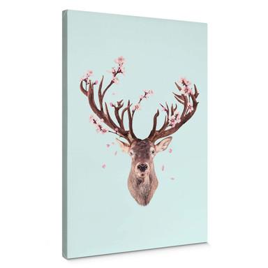 Leinwandbild Loose - Cherry Blossom Deer