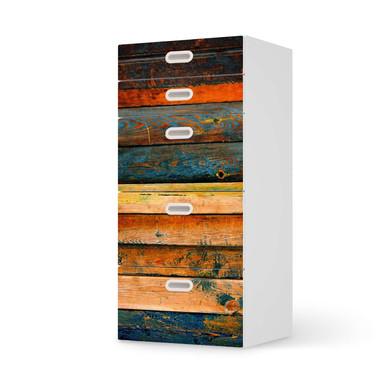 Möbel Klebefolie IKEA Stuva / Fritids Kommode - 5 Schubladen - Wooden