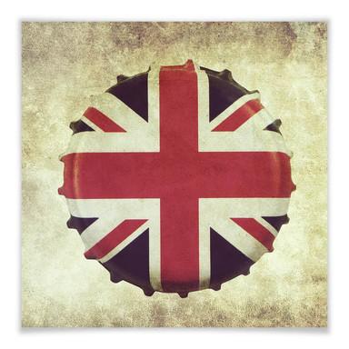 Poster Britischer Kronkorken