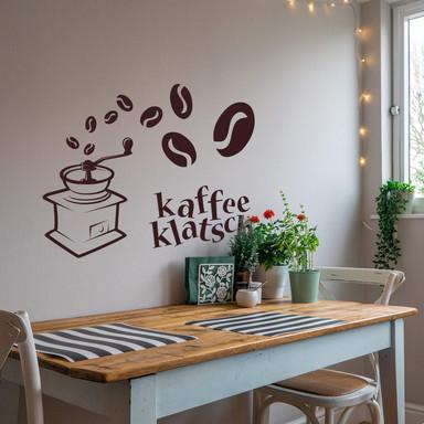 Wandtattoo Kaffee Klatsch