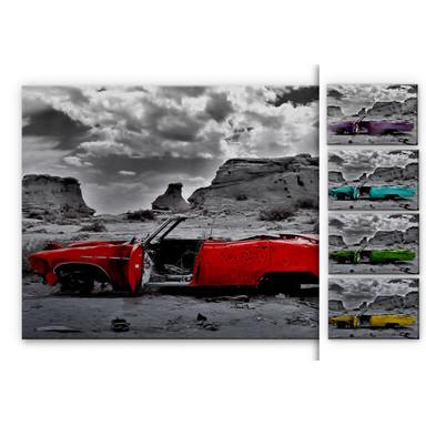 Alu Dibond Bild Roter Cadillac