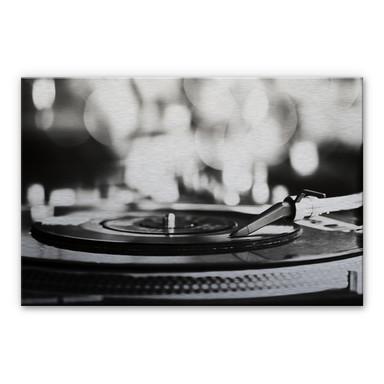 Alu Dibond Bild Vinyl Record on Turntables