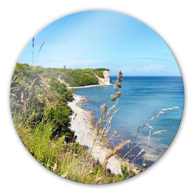 Glasbild Kap Arkona - rund