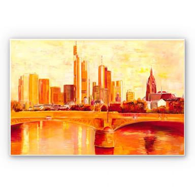 Hartschaumbild Schüssler - Skyline Frankfurt