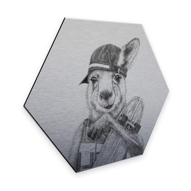 Hexagon - Alu-Dibond Silbereffekt Kools - Skateroo