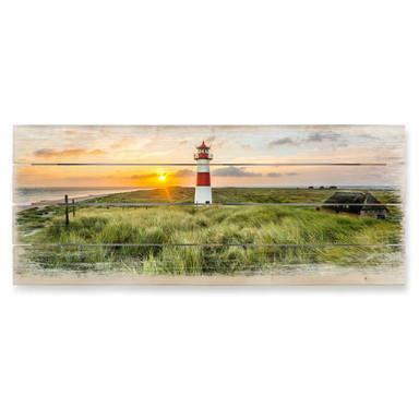 Holzbild Leuchtturm auf Sylt - Bild 1