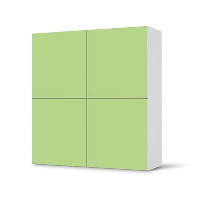 Klebefolie IKEA Besta Schrank 4 Türen - Hellgrün Light- Bild 1