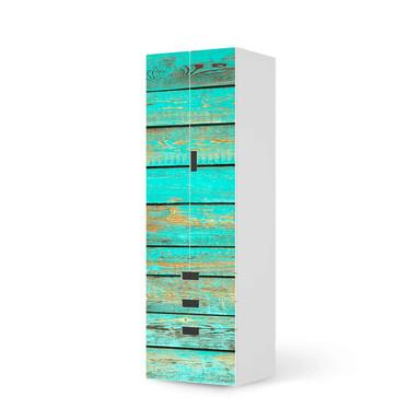 Klebefolie IKEA Stuva / Malad - 3 Schubladen und 2 grosse Türen - Wooden Aqua- Bild 1