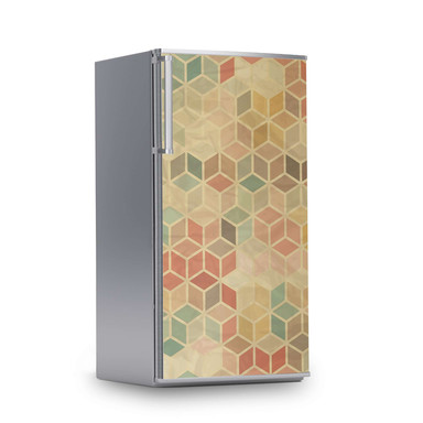 Kühlschrankfolie 60x120cm - 3D Retro- Bild 1