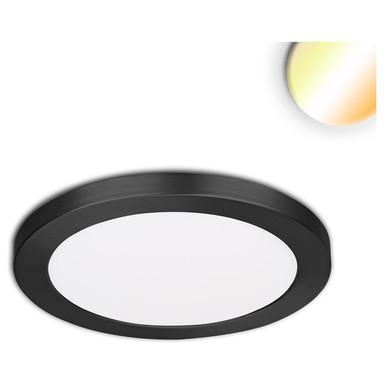 LED Aufbau/Einbauleuchte Slim Flex, 12W, schwarz, ColorSwitch 3000K|3500K|4000K