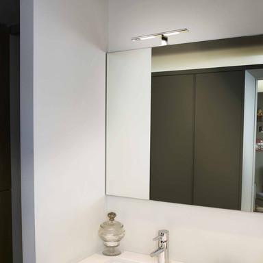 Moderne Badezimmer Wandleuchte Terma in chrom LED