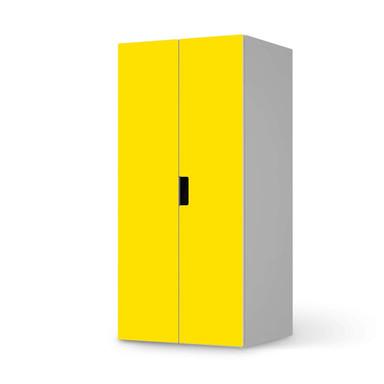 Möbelfolie IKEA Stuva / Malad Schrank - 2 grosse Türen - Gelb Dark
