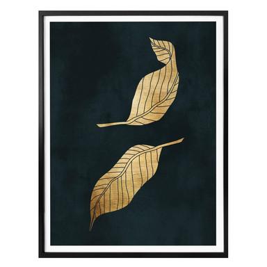 Poster Kubistika – Goldene Blätter
