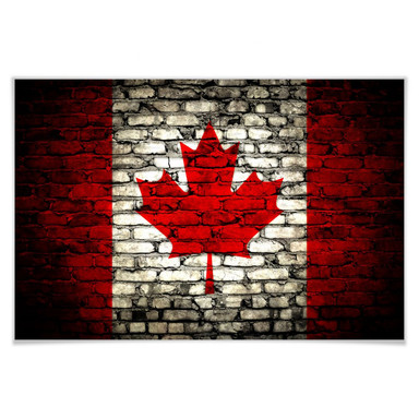 Poster Maple Leaf Mauer