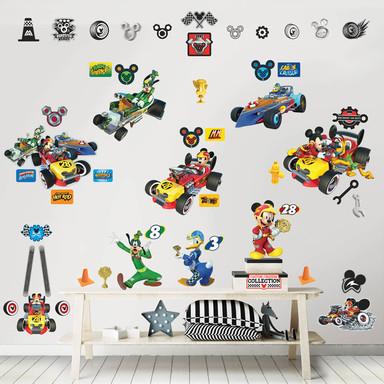 Wandsticker-Set Disney Micky und die flinken Flitzer 74-tlg. - Bild 1